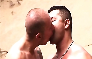 Swimmers Touching Bulge in Speedo each others (sunga)