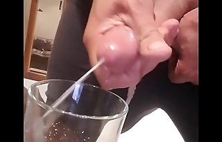Cumshot in a glass