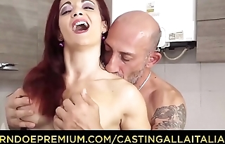 CASTING ALLA ITALIANA - Omar Galanti fucks in amateur sex tape with redhead Italian MILF Mary Rider