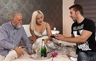 DADDY4K. Amazing dad and young girl sex ended with cumshot chiefly ass