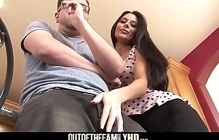 Sexy Brunette MILF Step Mom Nikki Daniels Fucked By Step Son After Hearing Him Fuck His Girlfriends With Cumshot