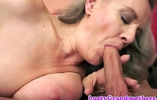 Pussy banged granny screwed from behind