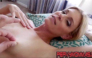 Kinky milf pov riding stepsons cock together with giving blowjob
