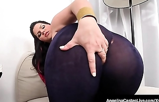 Latina BBW Angelina Castro Rubs Her Plump Pussy &amp_ Big Boobs!