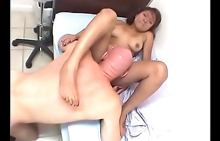 Nice tits brunette slut sucks a cock and gets fucked hard on the bed