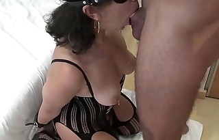 Me being a sumissive little slut with a random dating site hookup and getting a messy facial