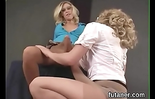 Slutty teenies penetrate the biggest strap-ons and spray cream everywhere