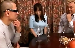 Shameful japanese wife cheating blowjob then get toys and flower stopped up her ass while husband sleeping