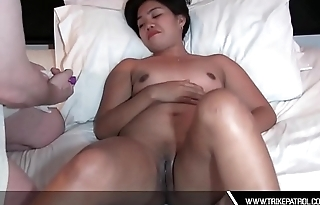Asian Filipina Gives Vibrator Toy Masturbation