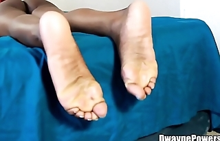 Ebony Feet in a Thong