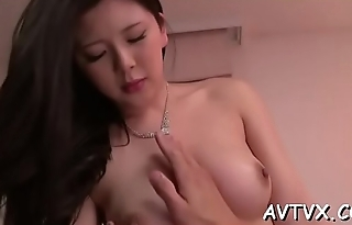 Sweet oriental chick widens her legs wide for wild drilling