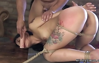 Toff fucks slave outdoor and indoor