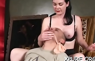 Sluty dominas smother a helpless stud with ass and tits