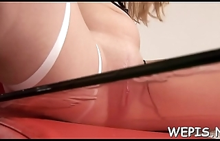 Lusty honey arranges a hot solo act and makes pissing