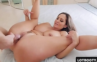 Very sexy MILF PAWG relative to huge tits increased by fat ass gets fucked