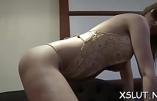Sexual floozy loves smotheing her inviting gaping asshole
