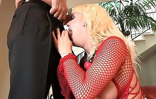 Doyen dirty-minded freak makes some dirty tricks with young busty little goose Tristyn Kennedy before polishing their way tight ass