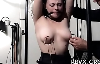 Shy cutie gets tied up and manhandled in bondage scene