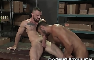 RagingStallion Hairy Muscle Hunk Boys Get Physical &amp_ Get Anal