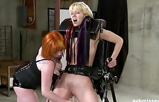 Lesbian babe enjoys BDSM, also gaoling and sting from mistress