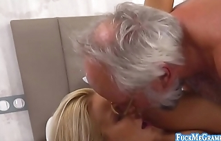 Aida is a lovely blonde angel who gets her pussy fucked hard