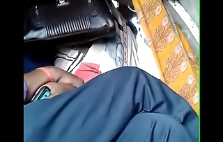 desi housewife groped and rubbed by a lucky chap in bus...she enjoyed it without moving