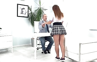 Tricky Old Teacher - Irresistible babe seduces experienced teacher