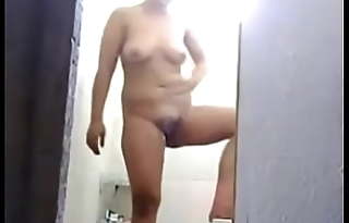 spy video of my Aunt masturbating in the shower