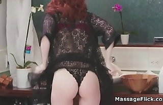 Wet redhead masseuse fucks best friends bf